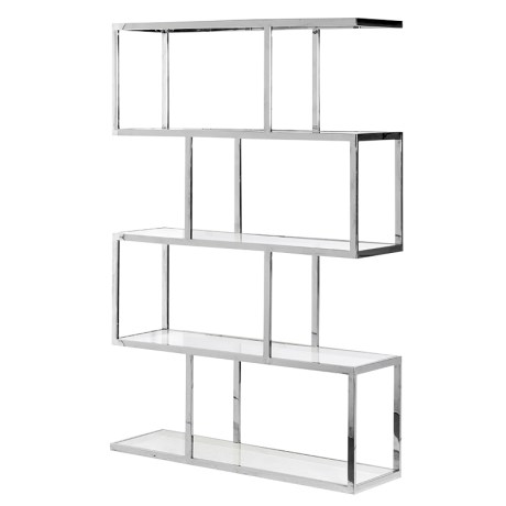 Ch Zara Metal Glass Shelving Unit Country Furniture Barn