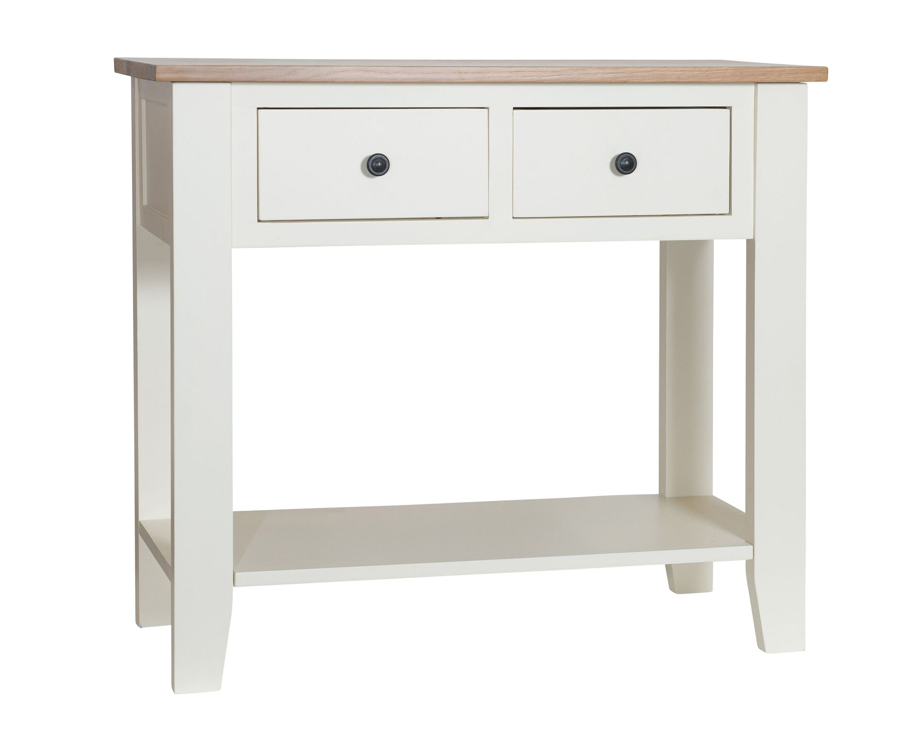 So cream painted oak top console table country furniture barn so cream painted oak top console table geotapseo Gallery