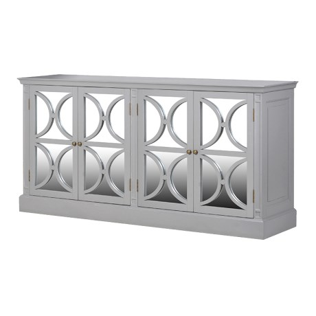 Ch Grey Radiance 4 Drawer Mirrored Sideboard Country