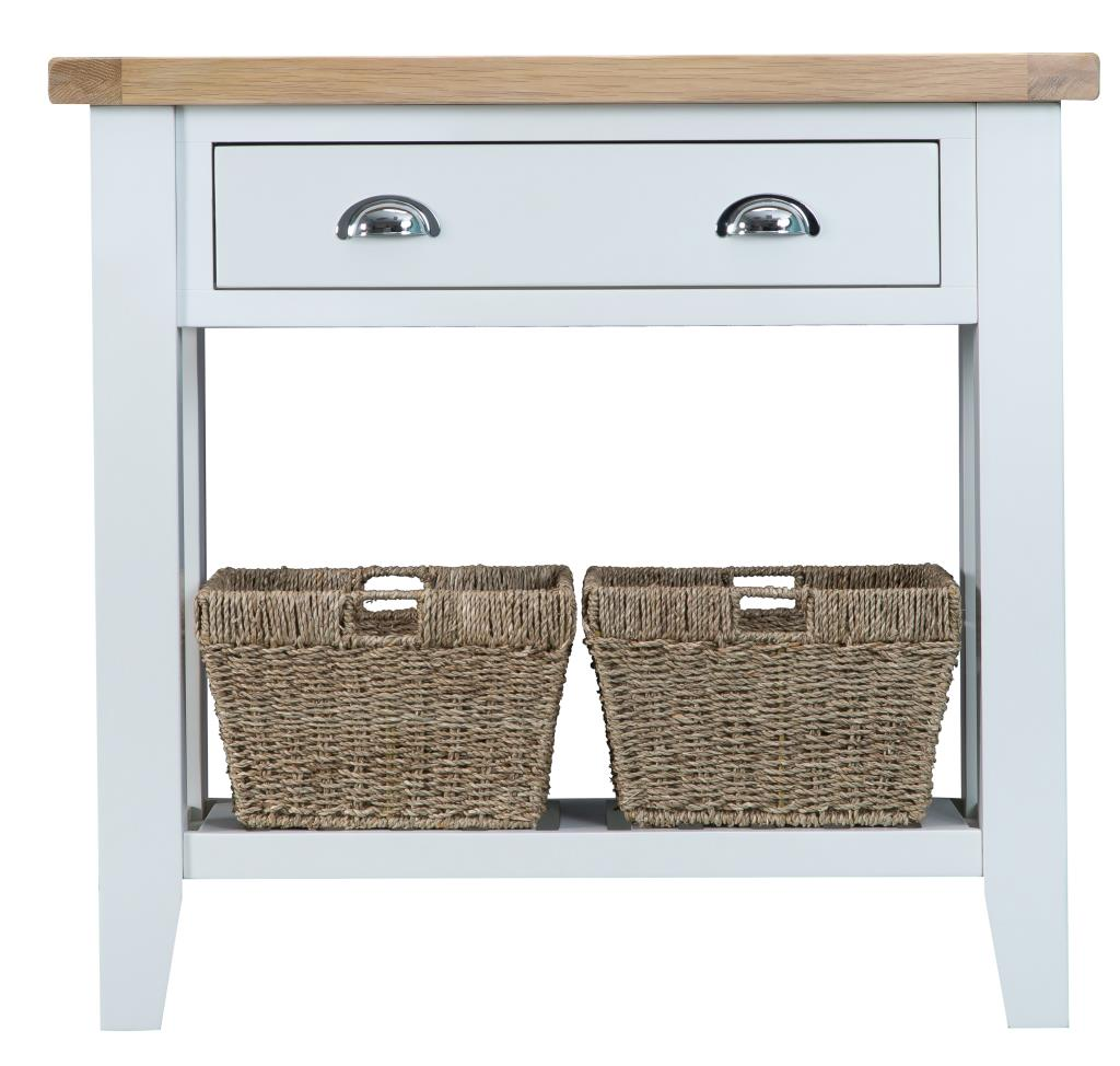 Brooke White Console Table