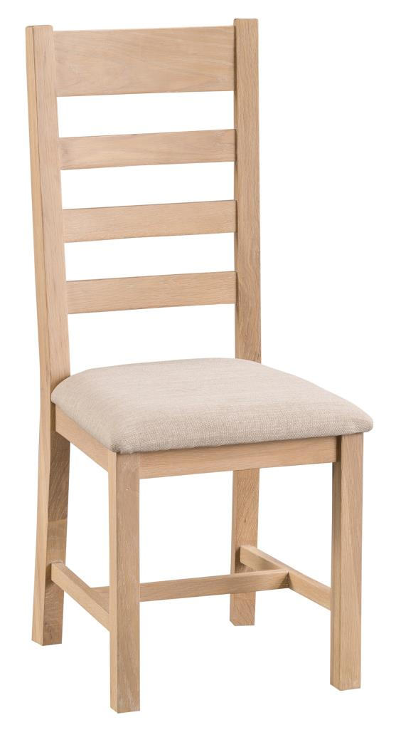 Ki Hampshire Ladder Back Fabric Seat Chair Country