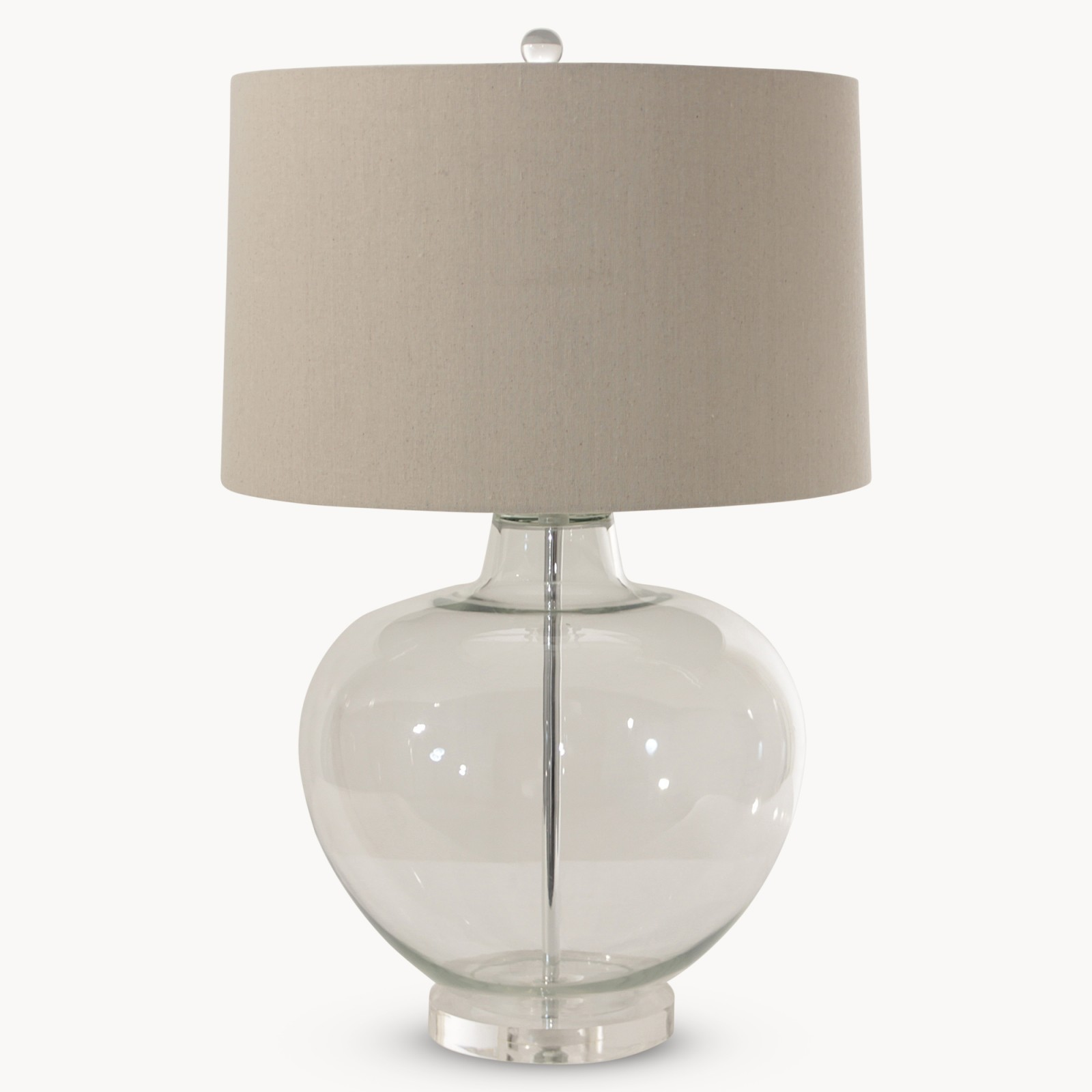 Ow Clifton Clear Glass Table Lamp With Shade Country Furniture Barn
