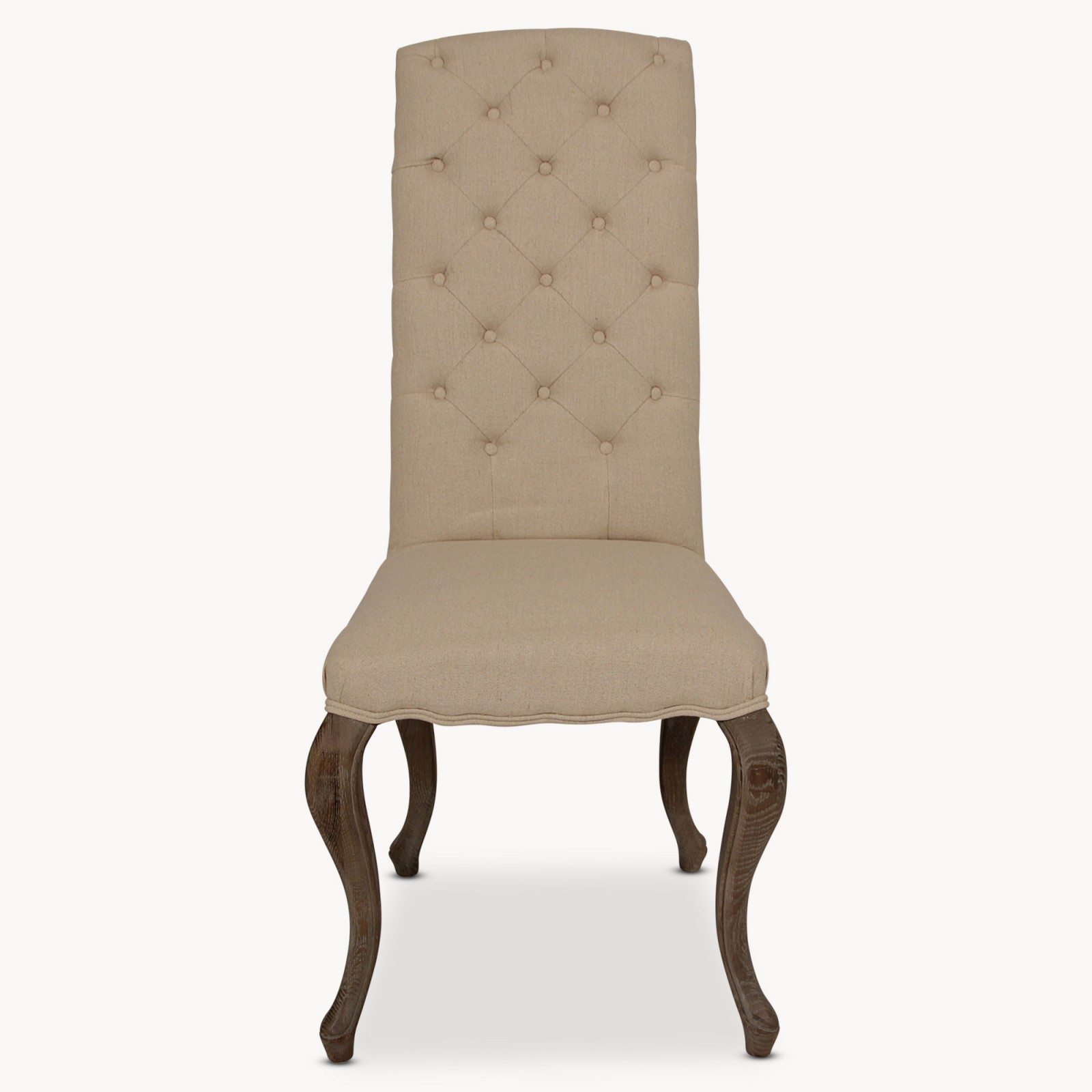 Ow Kingswood Natural Linen Dining Chair With Oak Legs