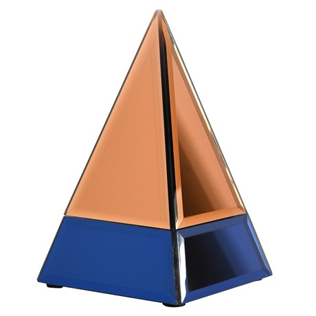 ZZ - Copper and Blue Glass Pyramid - Country Furniture Barn